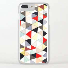 Geometric Pattern Watercolor & Pencil Robayre Clear iPhone Case