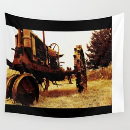 Metal Tractor Wall Tapestry