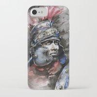 gladiator iPhone & iPod Cases featuring Gladiator by Glashka