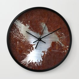 Hummingsplat Rusty Wall Clock