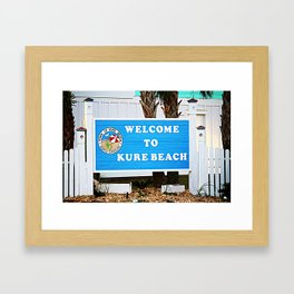 Small Town Beach Framed Art Print