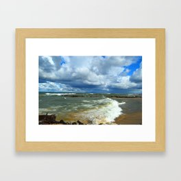 Waves at Whitefish Point Framed Art Print