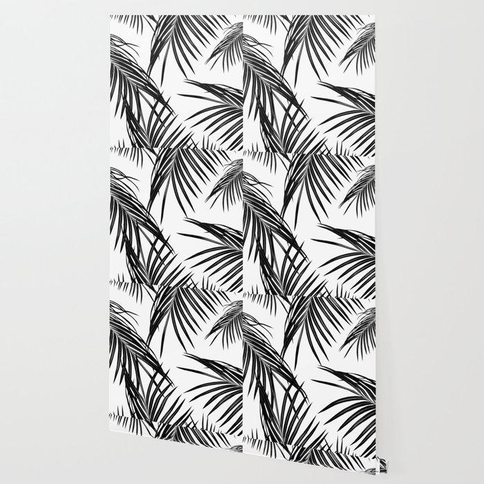 Black Palm Leaves Dream #1 #tropical #decor #art #society6 Wallpaper