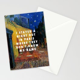 Vincent van Gogh, The Cafe Terrace on the Place du Forum (1888) / Halsey, Alone (2017) Stationery Cards