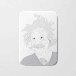 Albert Einstein Illustration Bath Mat