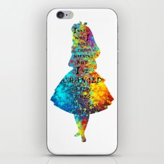 Alice In Wonderland - Quote - Colorful Watercolor Black Text iPhone & iPod Skin