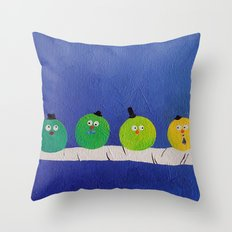 Four Fat Chaps Throw Pillow