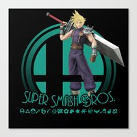 super smash bros Canvas Prints featuring Cloud - Super Smash Bros. by Donkey Inferno
