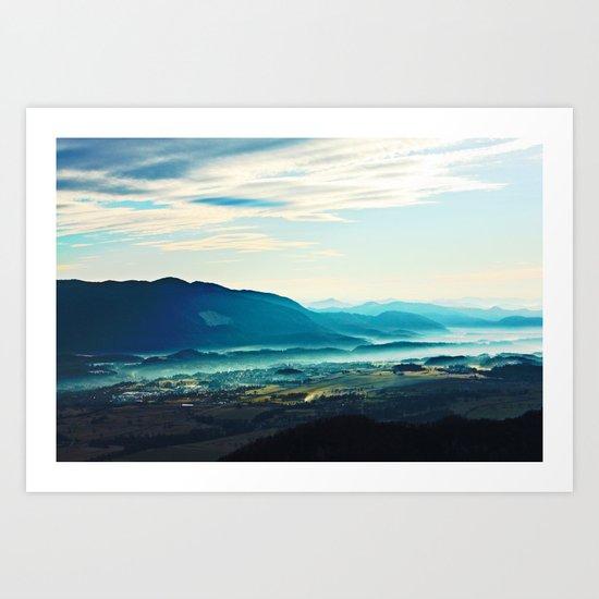 Blue Vista Art Print