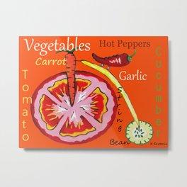 Vegetables -#typography Metal Print