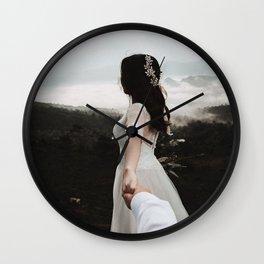 Following My Bride Wall Clock