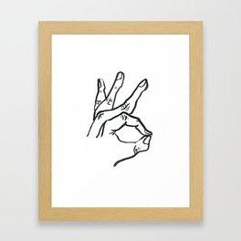 Meridian Finger Framed Art Print