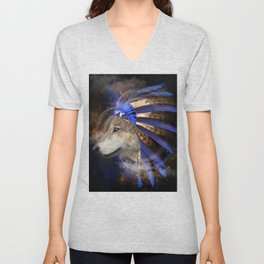 Fight For What You Love (Chief of Dreams: Wolf) Tribe Series Unisex V-Neck
