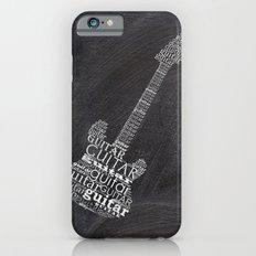 Guitar on chalkboard iPhone 6s Slim Case