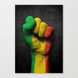 Mali Flag on a Raised Clenched Fist Canvas Print