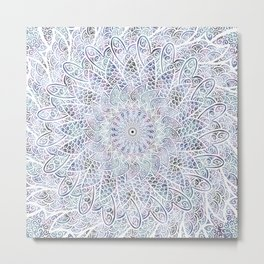 Ruminating By The Ocean -Mandala Metal Print