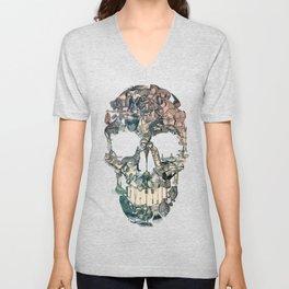 Skull Vintage Unisex V-Neck