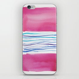 20  |181026 Lines & Color Block | Watercolor Abstract | Modern Watercolor Art iPhone Skin