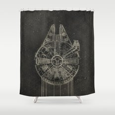 Millennium Falcon Shower Curtain