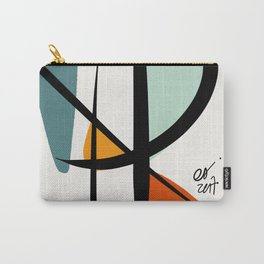 Abstract Minimal Lyrical Expressionism Art Blue Orange Carry-All Pouch