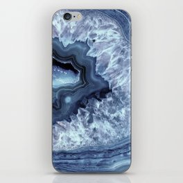 Steely Blue Quartz Crystal iPhone Skin