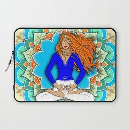 Mandala Listening to the Higher self Laptop Sleeve