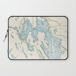 Vintage Muskoka Lakes Map Laptop Sleeve