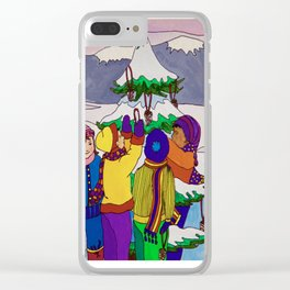 Let's Feed the Birds Clear iPhone Case