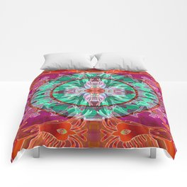 Firebird Eye of the Sky Mandala Comforters