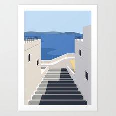 Summer Steps Art Print