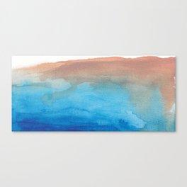 beach from the sky Canvas Print