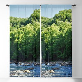 A Creek and Forest in West Virginia  Blackout Curtain