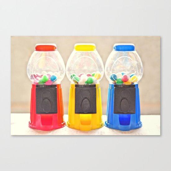 Bubble Gum in Primary  Canvas Print