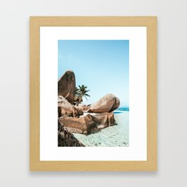 The Paradise - La Digue Island, Seychelles Framed Art Print
