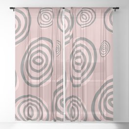 Swirls - Mid-Century-Modern Sheer Curtain