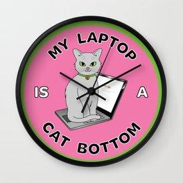 My Laptop is a Cat Bottom Wall Clock