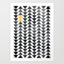 Triangle - Yellow II Art Print