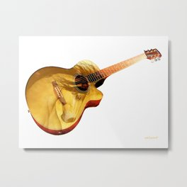 The guitar is a lady Metal Print