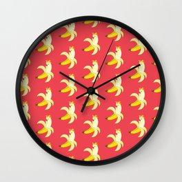 Bananatoos (Pink) Wall Clock