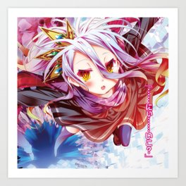 Shiro & Sora No Game No Life Art Print