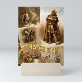 Vintage Macbeth Theatre Poster Mini Art Print