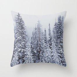 MORE SNOW Throw Pillow