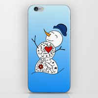 snowman iPhone & iPod Skins featuring Snowman  by #dancingpenguin