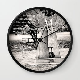 Tippy Toes - Typography Wall Clock