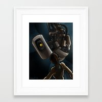 glados Framed Art Prints featuring GlaDOS and Chell by quietsnooze
