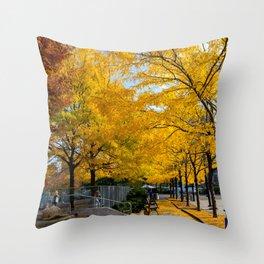 Autumn in NY Throw Pillow