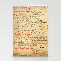 grantaire Stationery Cards featuring Grantaire by Jessica Latham