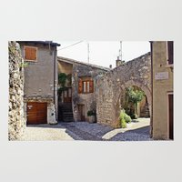 medieval Area & Throw Rugs featuring Medieval Street by Art-Motiva