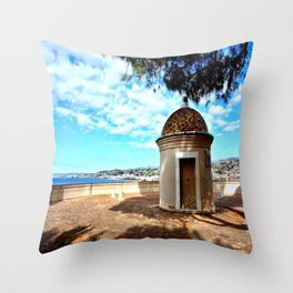 Historic Castle Hill (Colline du Chateau) In Nice Throw Pillow