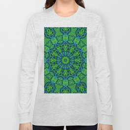 Green-black-blue kaleidoscope Long Sleeve T-shirt